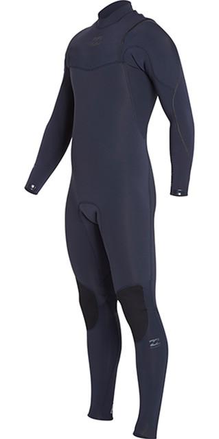 2018 Billabong Junior Furnace Comp 3/2mm Zipperless Wetsuit Heather Blue H43b04 Picture