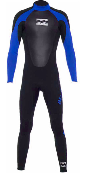 2018 Billabong Junior Intruder 4/3mm GBS Back Zip Wetsuit BLUE 044B15
