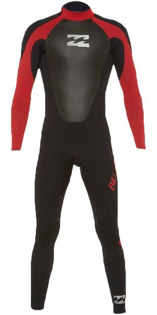 2018 Billabong Junior Intruder 3/2mm Gbs Back Zip Wetsuit Red 043b15 Picture