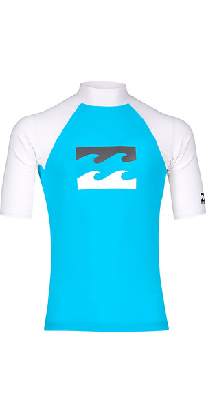 2018 Billabong Junior Team Wave Short Sleeve Rash Vest OCEAN H4KY03