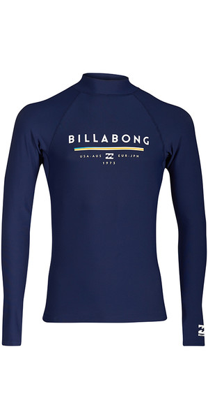 2018 Billabong Junior Unity Long Sleeve Rash Vest NAVY H4KY02