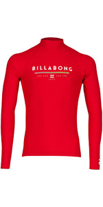 2018 Billabong Junior Unity Long Sleeve Rash Vest RED H4KY02