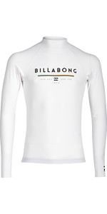 2018 Billabong Junior Unity Long Sleeve Rash Vest WHITE H4KY02
