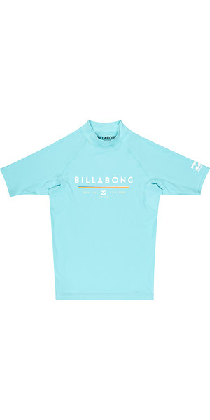 2018 Billabong Junior Unity Short Sleeve Rash Vest MINT H4KY01