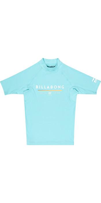 Billabong Junior Unity Short Sleeve Rash Vest MINT H4KY01