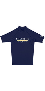 2018 Billabong Junior Unity Short Sleeve Rash Vest NAVY H4KY01