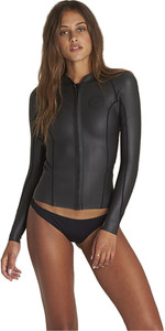 2018 Billabong Womens Peeky 2mm GBS Neoprene Jacket BLACK H42G09