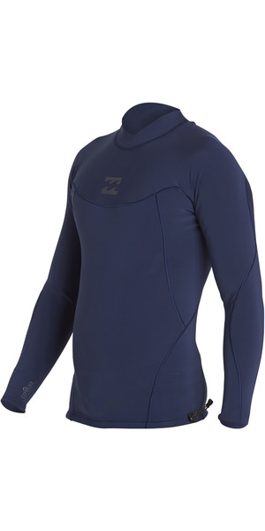 2018 Billabong Proairlite 1mm Long Sleeve Neoprene Top HEATHER BLUE H41M01