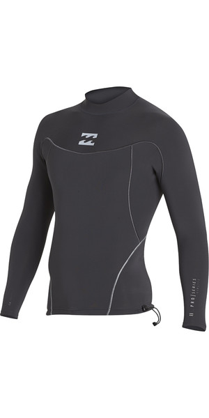 2018 Billabong ProAirlite 1mm Long Sleeve Neoprene Top BLACK SANDS H41M01