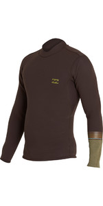 2018 Billabong Revo DBAH 2mm Long Sleeve Neoprene Jacket DARK BROWN H42M02