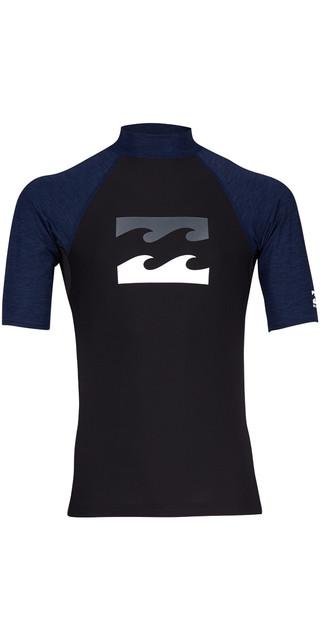 2018 Billabong Team Wave Short Sleve Rash Vest Black H4my03 Picture
