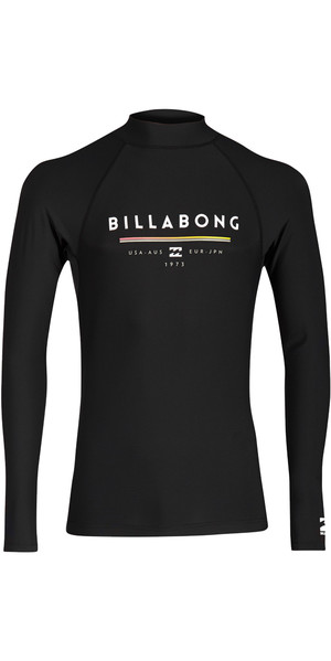 2018 Billabong Unity Long Sleeve Rash Vest BLACK H4MY02