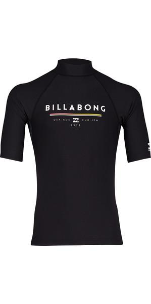 2018 Billabong Unity Short Sleeve Rash Vest BLACK H4MY01