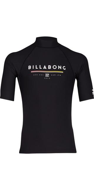 2018 Billabong Unity Short Sleeve Rash Vest Black H4my01 Picture