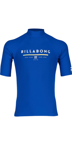 2018 Billabong Unity Short Sleeve Rash Vest NIGHT H4MY01