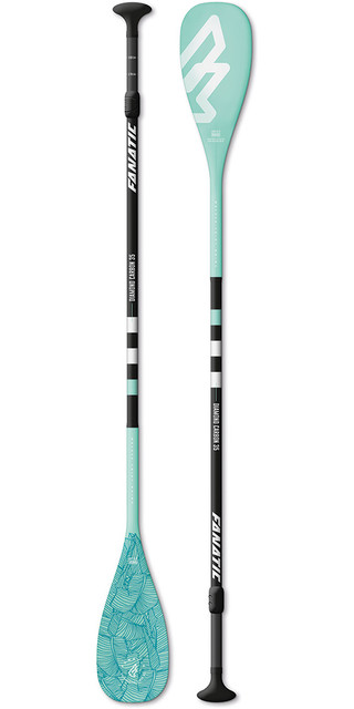 2018 Fanatic Diamond Carbon 35 3-piece Adjustable Sup Paddle 165-220cm Diamond Blue Picture