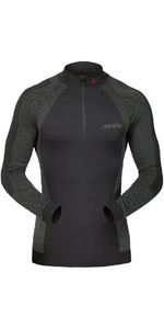 2020 Musto Active Base Layer Long Sleeve Zip Neck Top BLACK SU0160