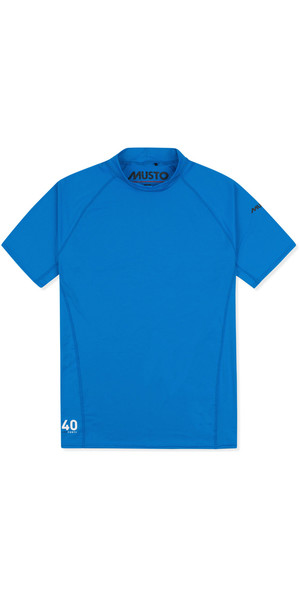 2019 Musto Mens Insignia UV Fast Dry Short Sleeve T-Shirt Brilliant Blue SUTS008