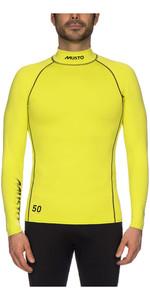 2021 Musto UPF50 Long Sleeve Rash Vest Sulphur Spring SUTS003