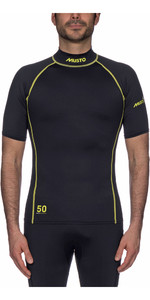 2021 Musto UPF50 Short Sleeve Rash Vest Black SUTS004