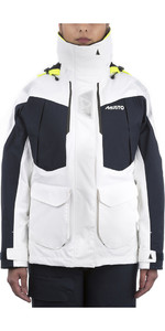 2021 Musto Womens BR2 Offshore Jacket White / True Navy SWJK014