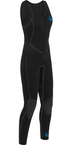 2020 Palm Womens Quantum 3mm Neoprene Front Zip Long John Wetsuit BLACK 12236