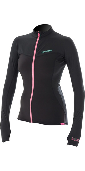 2018 Prolimit Womens Loosefit QD SUP Top Black / Aqua 84700