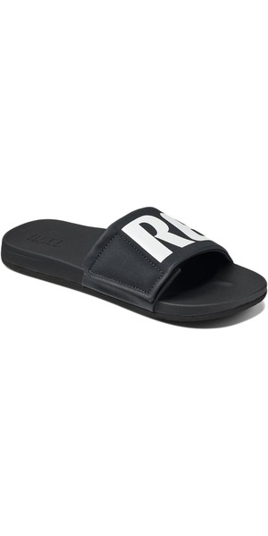 624a5f4d908 2018 Reef Mens Cushion Bounce Slide Flip Flops Black   White RF0A3OL5BIO  Reef