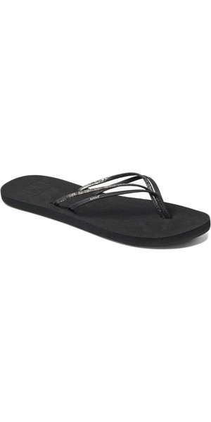 2018 Reef Womens Double Bliss Vegan Flip Flops Black F0A3OKRBLA