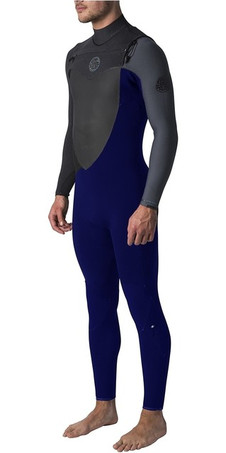 2018 Rip Curl Flashbomb 3/2mm Gbs Chest Zip Wetsuit Slate Wst7mf Picture
