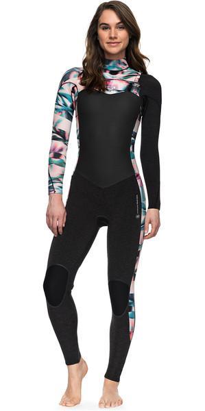 2018 Roxy Womens Performance 4/3mm Chest Zip Wetsuit BLACK ERJW103032