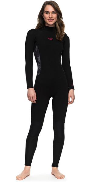 2018 Roxy Womens Syncro Series 3/2mm Flatlock Back Zip Wetsuit BLACK ERJW103023