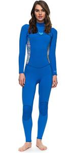 2018 Roxy Womens Syncro Series 3/2mm Flatlock Back Zip Wetsuit SEA BLUE ERJW103023