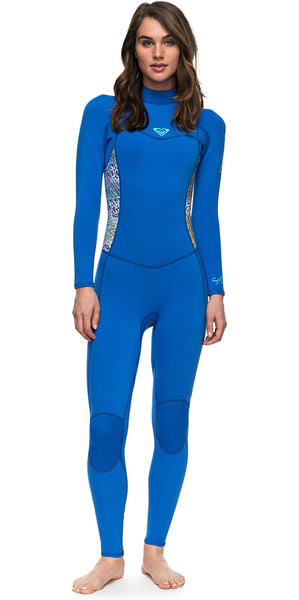 2018 Roxy Womens Syncro Series 3/2mm Flatlock Back Zip Wetsuit SEA BLUE ERJW103023