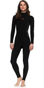2018 Roxy Womens Syncro Series 4/3mm GBS Chest Zip Wetsuit BLACK ERJW103022
