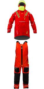 2019 Zhik Isotak X Ocean Smock SMK0920 & Isotak X Ocean Salopettes Flame Red SAL0920