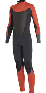 Billabong Junior Absolute 4/3mm GBS Back Zip Wetsuit ORANGE H44B06