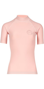 Billabong Womens Logo Colour Short Sleeve Rash Vest BLUSH H4GY07