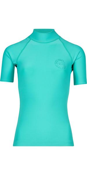 2018 Billabong Ladies Logo Colour Short Sleeve Rash Vest POOL BLUE H4GY07