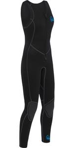 2020 Palm Womens Quantum 3mm Neoprene Front Zip Long John Wetsuit BLACK 12236