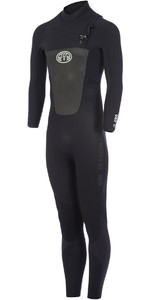 Animal Lava 4/3mm GBS Chest Zip Wetsuit Black AW7WL104