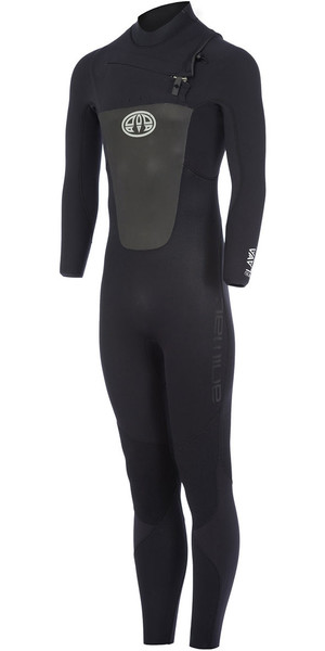 2018 Animal Lava 4/3mm GBS Chest Zip Wetsuit Black AW7WL104