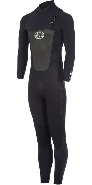 2018 Animal Lava 4/3mm Gbs Chest Zip Wetsuit Black Aw7wl104 Picture
