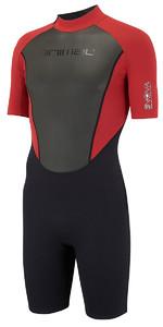 Animal Nova 3/2mm Flatlock Shorty Wetsuit Rich Red AW8SN103 - WAREHOUSE 2ND
