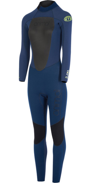 2018 Animal Womens Lava 5/4/3mm Back Zip Gbs Wetsuit Dark Navy Aw7wl301 Picture