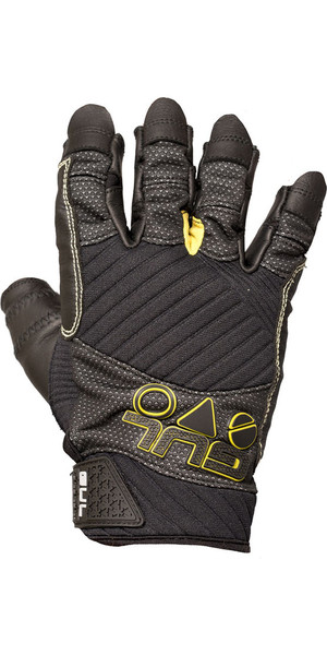 2018 Gul EVO Pro Short Finger Sailing Glove Black GL1299-B4
