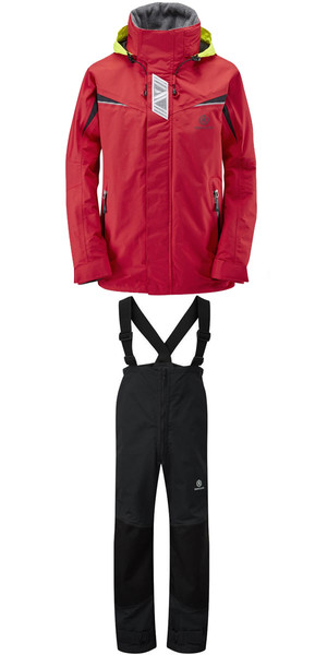 2018 Henri Lloyd Wave Inshore Jacket Y00353 & Hi-Fit Trousers Y10162 COMBI SET RED / BLACK