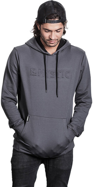 2018 Mystic Carving Sweat Hoody Rock Grey 180005