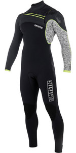 2018 Mystic Drip 3/2mm GBS Chest Zip Wetsuit - Black / Grey 180012