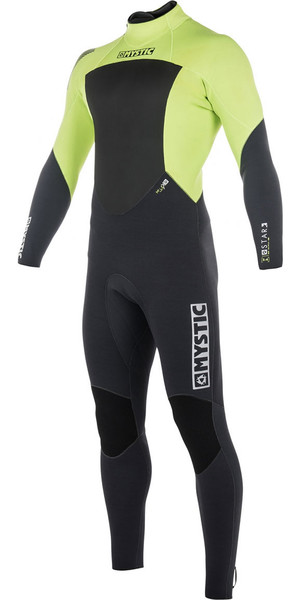 2018 Mystic Star 3/2mm GBS Back Zip Wetsuit - Lime 180020